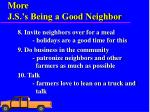 more j s s being a good neighbor1