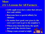 more j s s lessons for all farmers