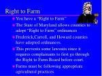 right to farm