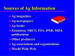 sources of ag information