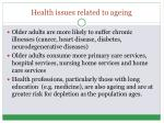 health issues related to ageing