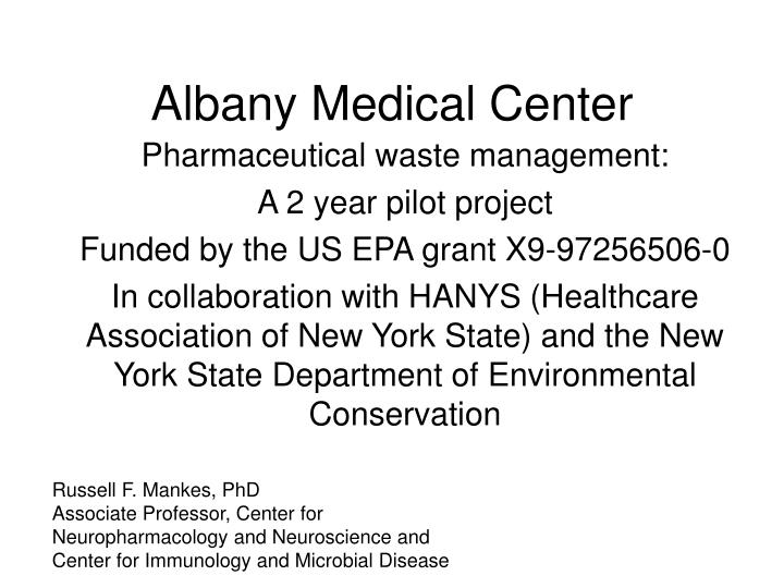 albany medical center n.