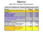 metrics amc scc formulary characterization
