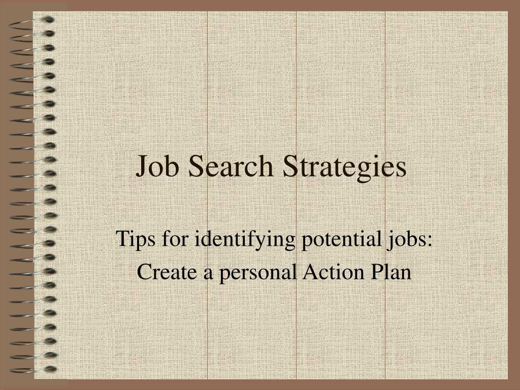 job search strategies l.