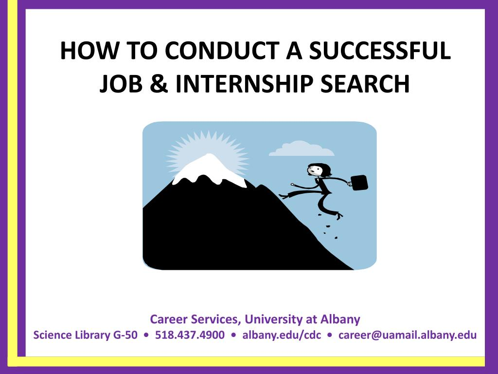how to conduct a successful job internship search l.
