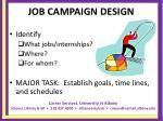 job campaign design