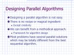designing parallel algorithms