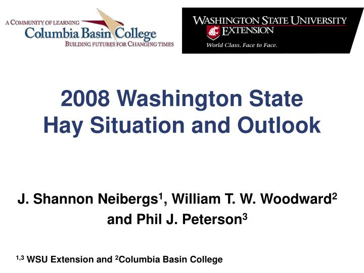 2008 washington state hay situation and outlook n.