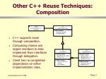 other c reuse techniques composition