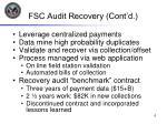 fsc audit recovery cont d