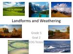landforms and weathering