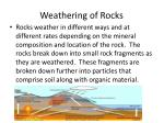 weathering of rocks