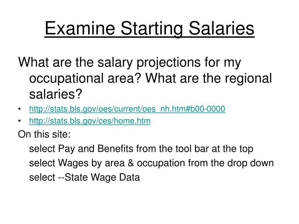 Examine Starting Salaries
