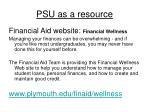 psu as a resource