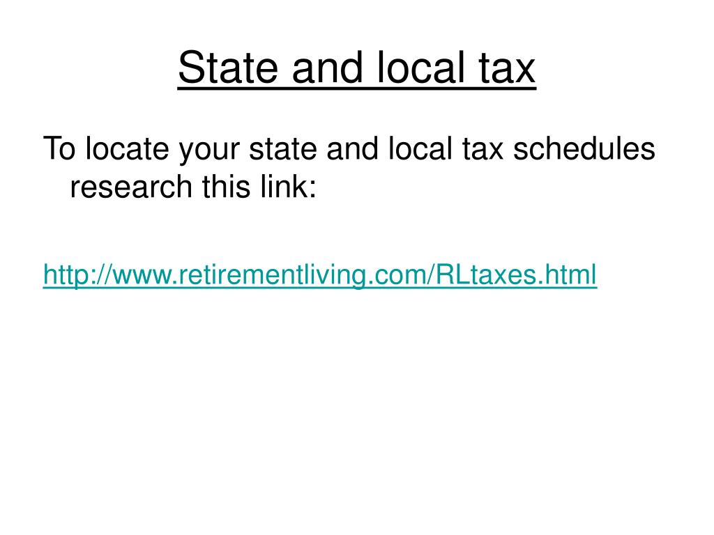 State and local tax