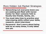 more hidden job market strategies