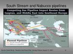 south stream and nabucco pipelines