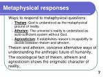 m etaphysical responses