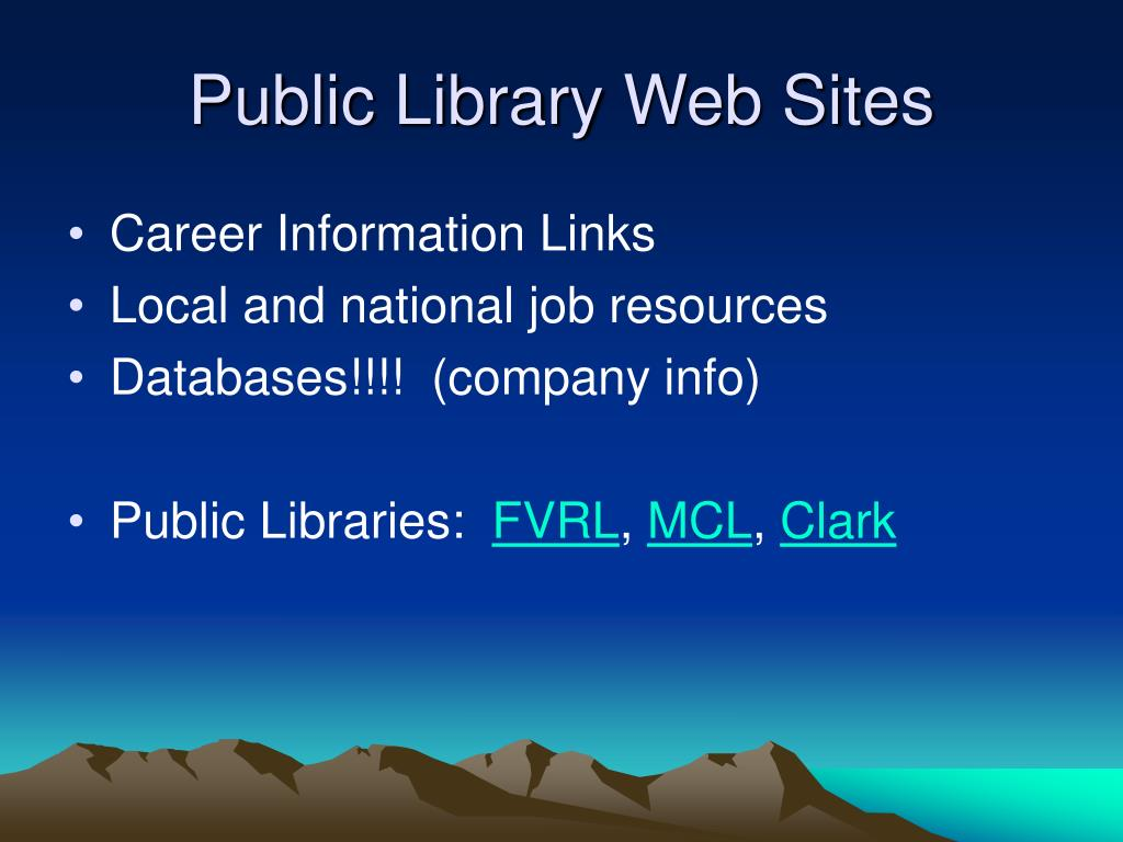 Public Library Web Sites