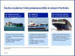 sechs moderne vollcontainerschiffe in einem portfolio