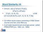 word similarity 4
