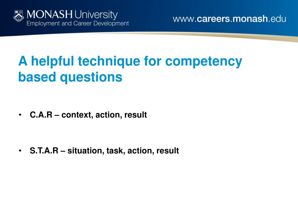 A helpful technique for competency based questions