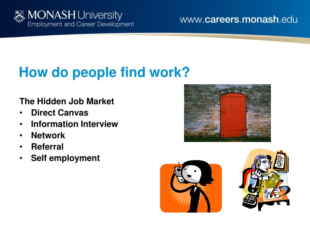 How do people find work?