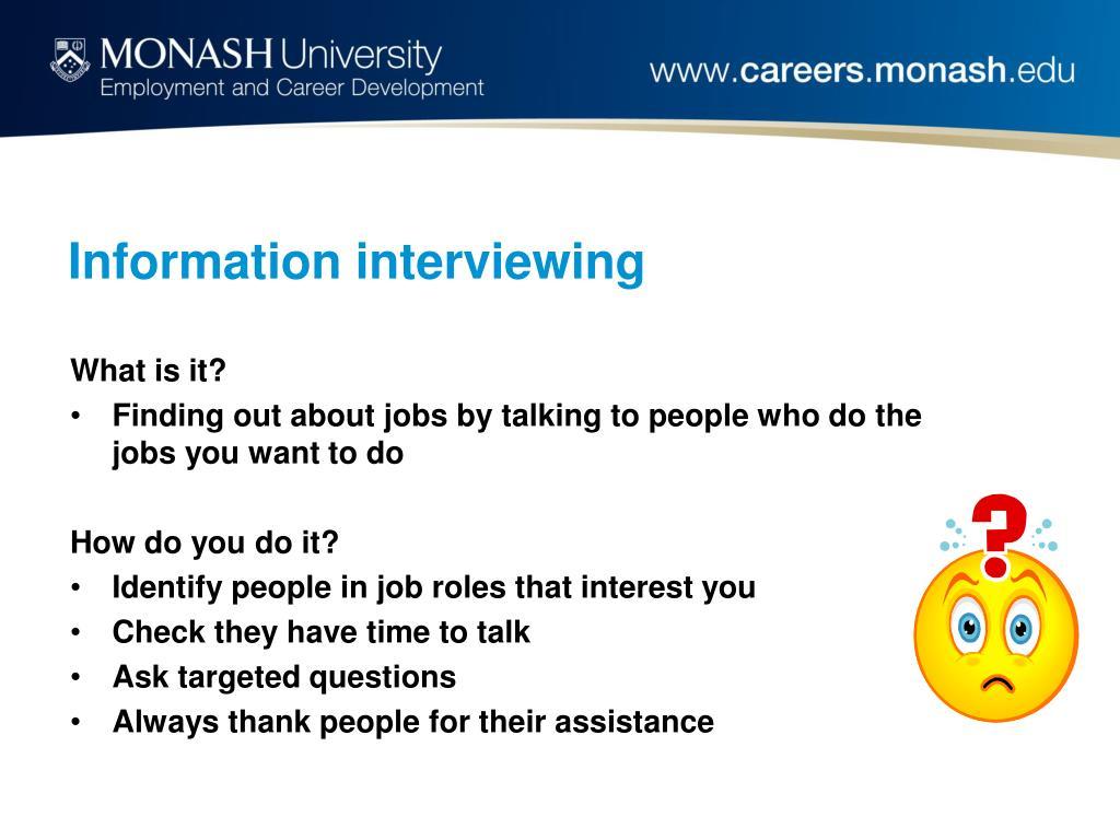 Information interviewing