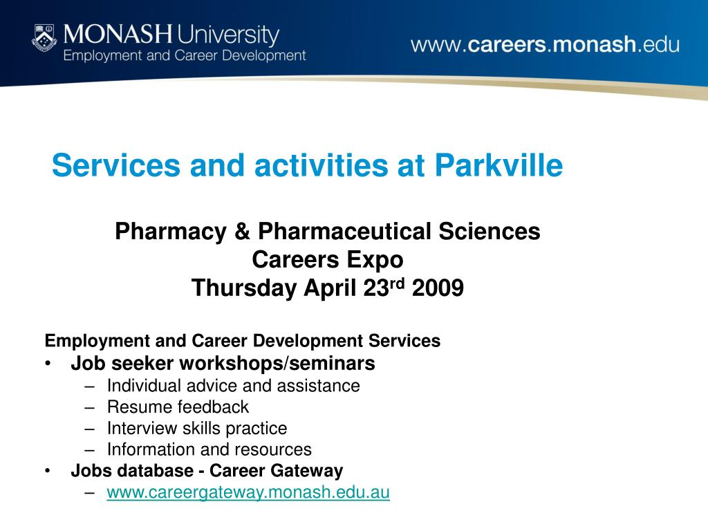 Services and activities at Parkville
