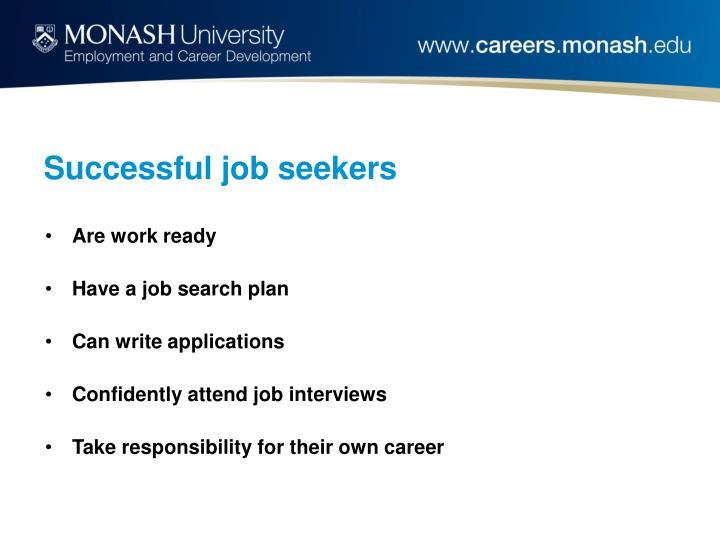 Successful job seekers