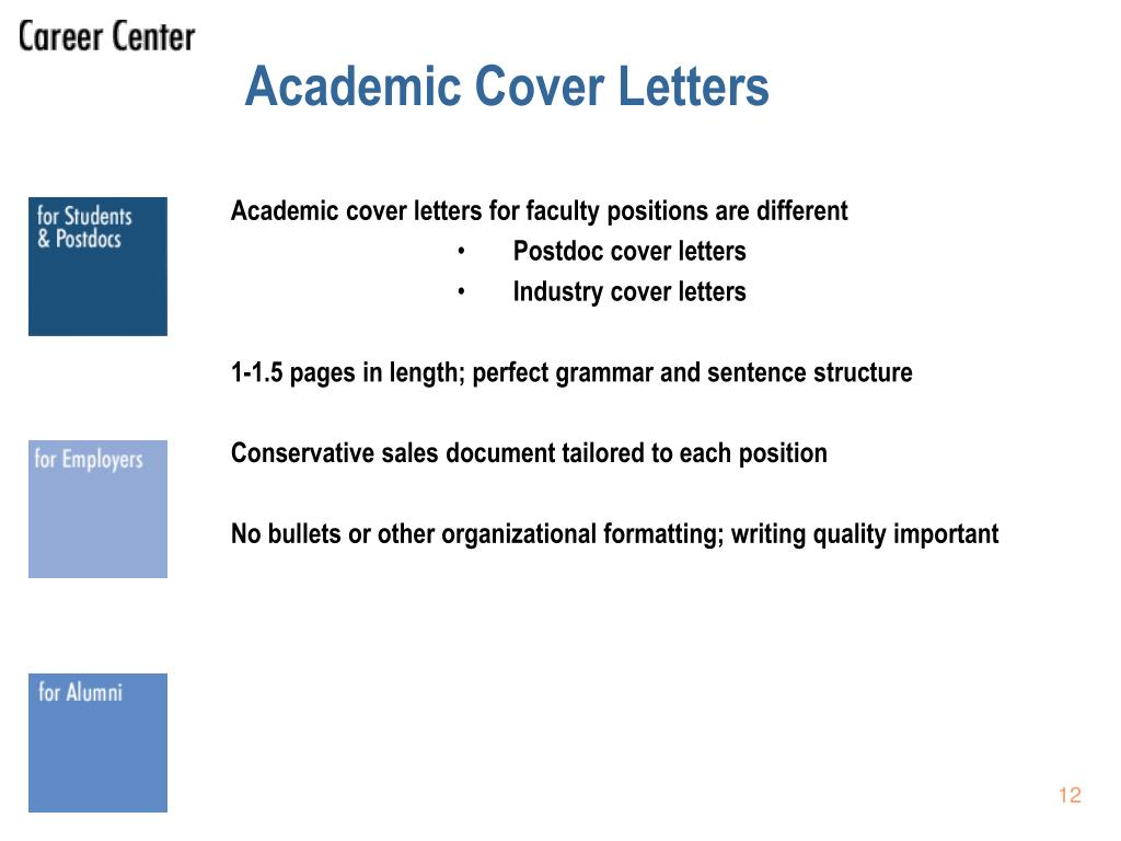 Academic Cover Letters