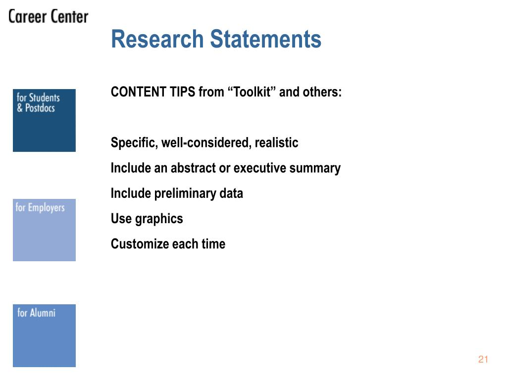 Research Statements