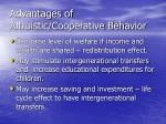 advantages of altruistic cooperative behavior