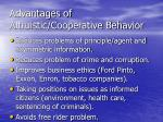 advantages of altruistic cooperative behavior2