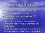 corruption experience in asia2