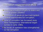 corruption experience in asia5