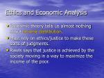 ethics and economic analysis
