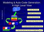 modeling auto code generation a high level view
