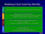 modeling auto code key benefits