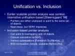 unification vs inclusion