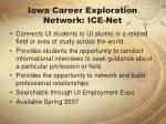 iowa career exploration network ice net