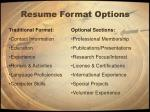 resume format options