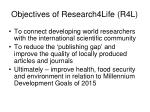 objectives of research4life r4l