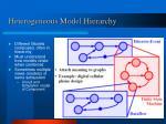 heterogeneous model hierarchy