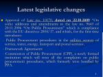 latest legislative changes