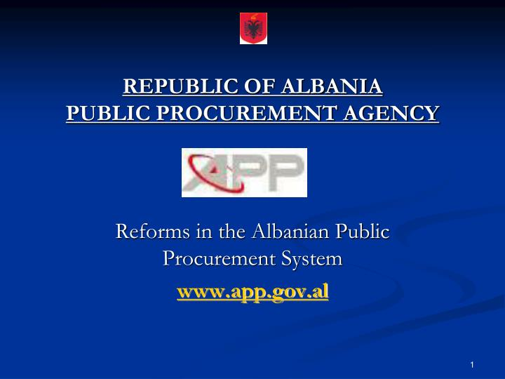 republic of albania public procurement agency n.