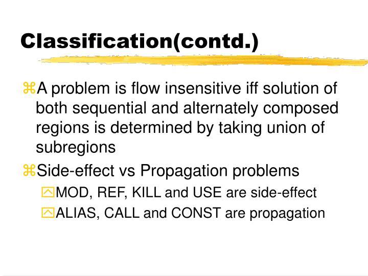 Classification(contd.)