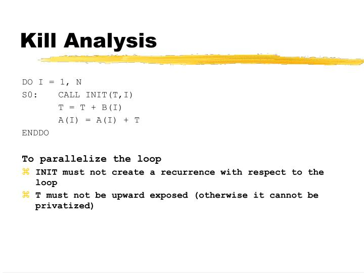 Kill Analysis