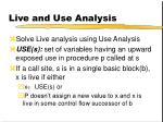 live and use analysis1