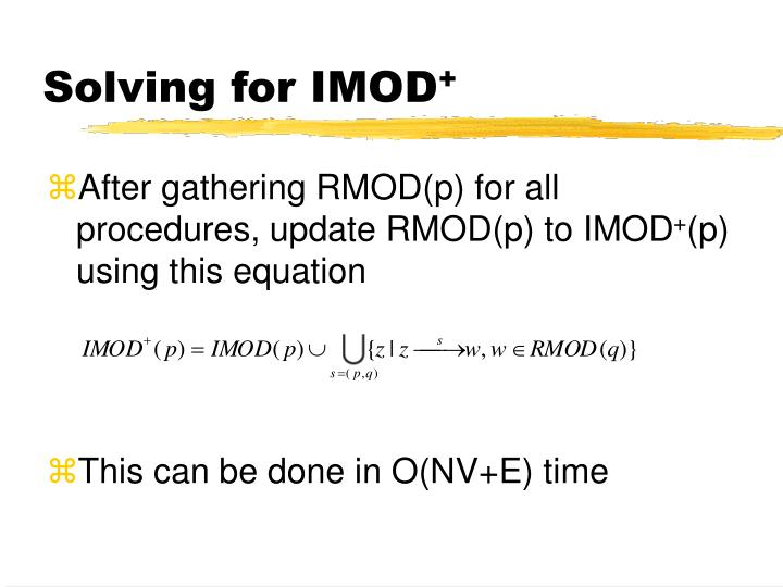 Solving for IMOD